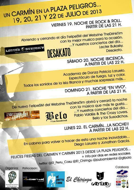 Fiestas del Carmin 2013.