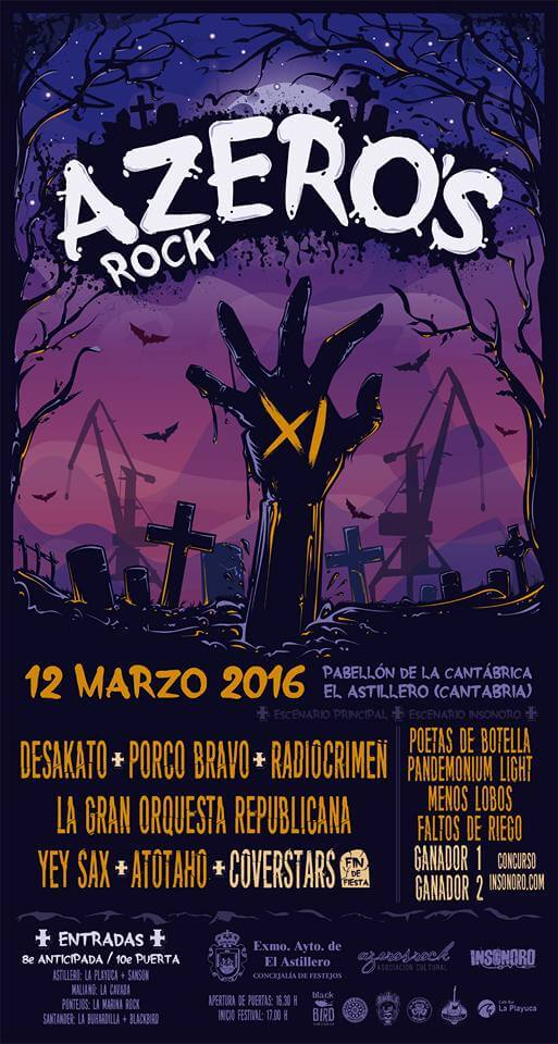 Festival Azeros Rock - Astillero (Cantabria) @ Festival Azeros Rock | Astillero | Cantabria | España