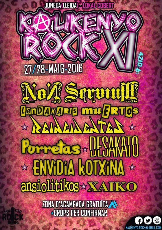 Festival Kalikenyo Rock - Lleida (Cataluña) @ Kalikenyo rock | Juneda | Catalunya | España