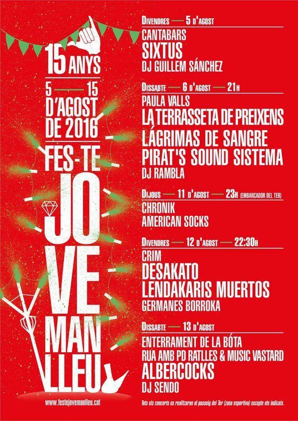 Fes-Te Jove - Manlleu (Barcelona) @ Fes-Te Jove | Manlleu | Catalunya | España