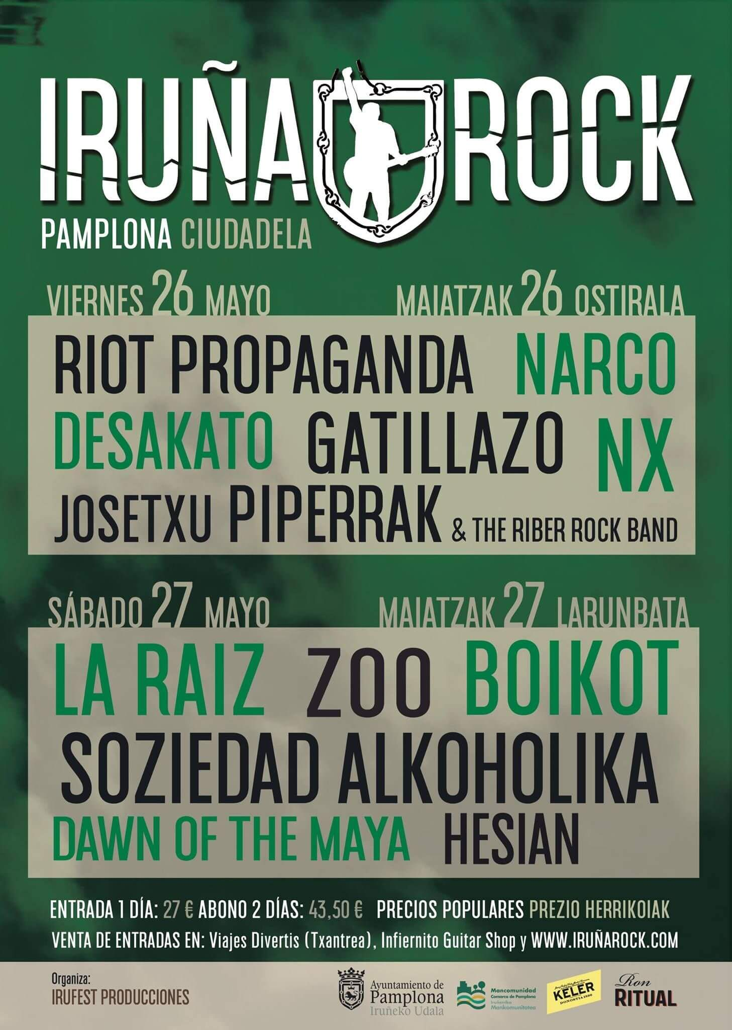 Festival Iruña Rock - Iruña (Navarra) @ Festival Iruña Rock | Pamplona | Navarra | España