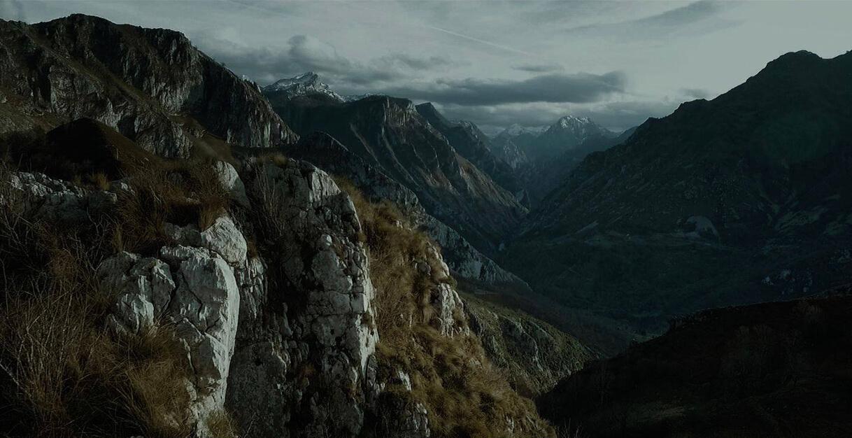 Rodaje en las montañas de Amieva en Asturias