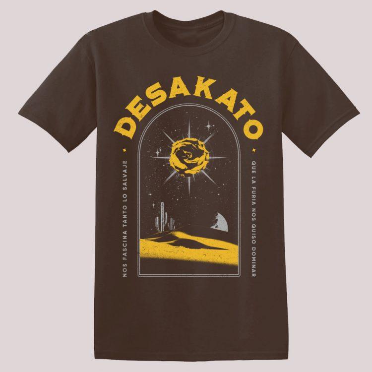 Camiseta 'Sombras' relacionada con la canción incluida en la miel de las flores muertas